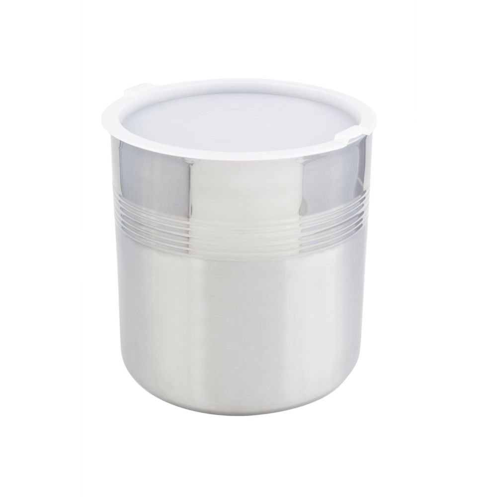 Bon Chef 9321 Stainless Steel 3 Wall Cold Wave Ice Cream Container with Cover, 3 gal Capacity, 10-1/2'' Diameter x 11-1/2'' Height