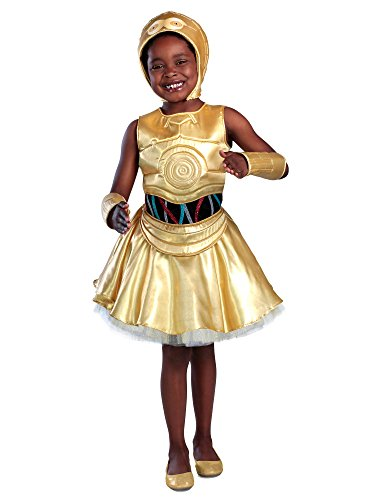 Classic Star Wars C-3Po Girl's Dress Costume ()