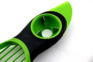 3-in-1 avocado slicer & corer, kitchen tools plastic fruit pitter durable blade split safely cooking tools