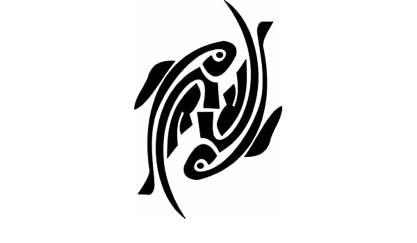 Tatuaje tribal de Piscis, etiqueta de vinilo pared calcomana de ...