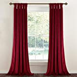 Red Soundproof Velvet Curtains Theater - Luxurious Heavyweight Drapes with Stylish Twist Tab Light Blocking Privacy Panels for Master Bedroom/Media Room, 52' x 96', 2 Pcs