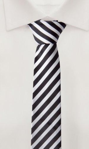 Cravate de Fabio Farini en noir blanche