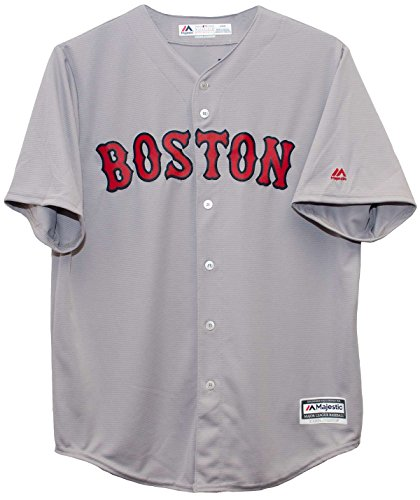 Majestic Boston Red Sox Road Gray Cool Base Jersey (Medium)