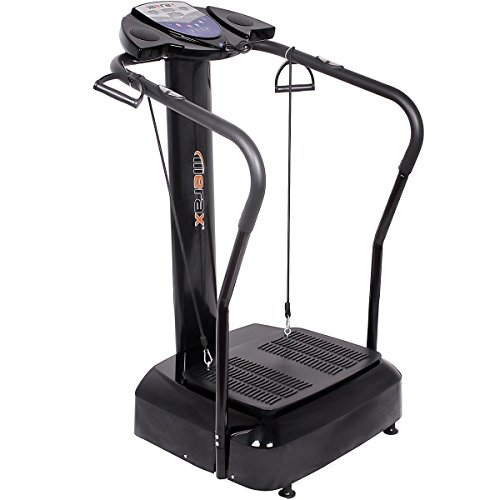 Merax 2000W Whole Body Crazy Fit Vibration Platform Fitness Machine withYoga Straps and MP3 Player
