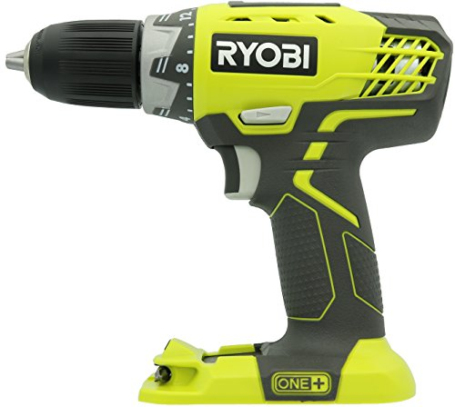 18v Driver Lithium Drill - Ryobi P208 One+ 18V Lithium Ion Drill/Driver with 1/2 Inch Keyless Chuck (Batteries Not Included, Power Tool Only)