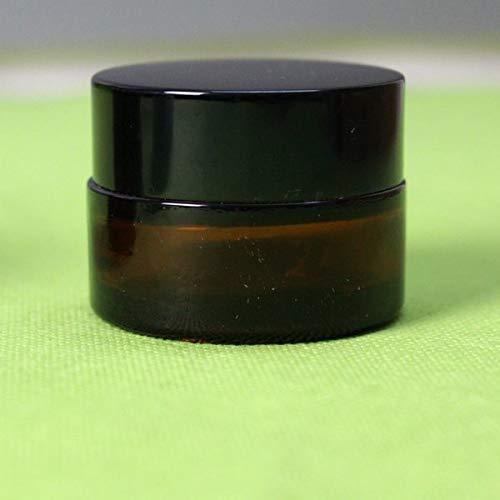 Jar With Lid - 20g Glass Cream Jar,cosmetic Container,cosmetic Jar With Black Lid Glass ()