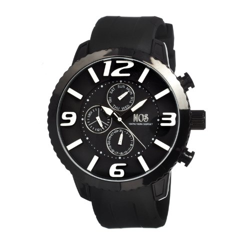 MOS Men's MOSML101 Milan Black Polyurethane Watch