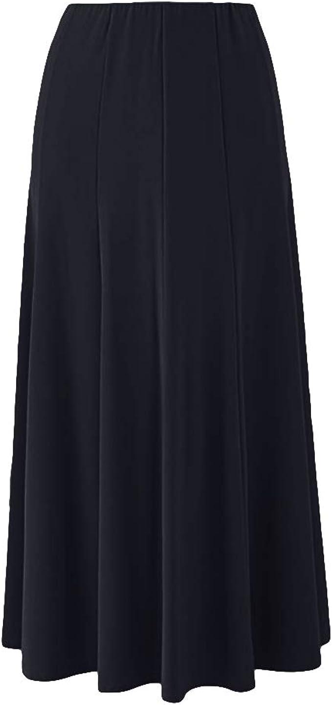 Wardrobe Ladies Womens Plus Size Panelled Design Elasticated Waistline Skirt