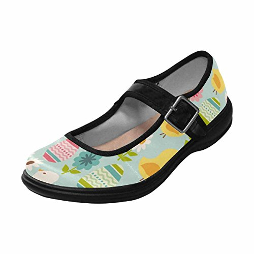 Interestprint Womens Komfort Mary Jane Lägenheter Tillfälliga Promenadskor Multi 6
