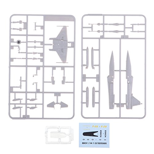 SM SunniMix 1/144 DIY F-20 Tigershark Fighter Airplane Aircraft Model for Home Table Decor