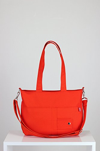 Orange Purse Two Pocket on Front Different Colors Available Fully Lined Double Strap Adjustable & Removably Strap Shoulder Bag Canvas Bag Different Colors are Available Hippirhino