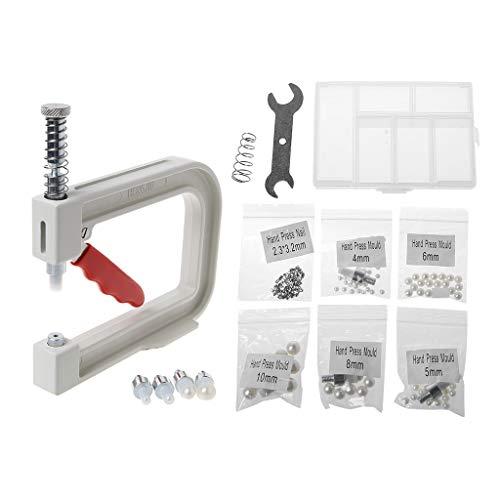 (Peuriy 1 Set Manual Beading Machine,Clothes Cap Pearl Bead Rivet Craft for DIY Repair Tools)