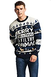 Men's Ugly Christmas Reindeer Knitted Sweater
