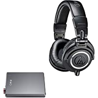 Audio-Technica ATH-M50X Professional Studio Headphones (Black) + Fiio A5 Portable Amplifier