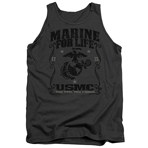 Trevco US Marine Corps For Life Unisex Adult Tank Top For Men and Women (Marine Corps Tank Top Men)