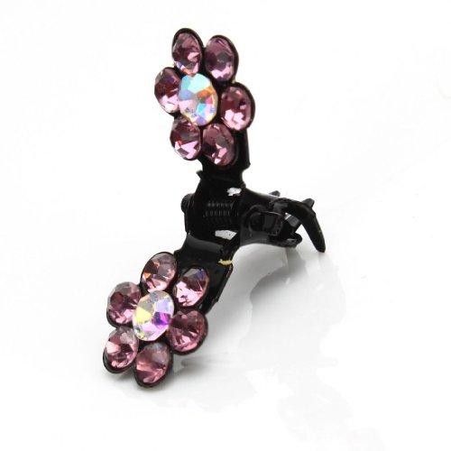 YARUIE 12Pcs Bridal Flower Crystal Rhinestone Mini Hair Claw