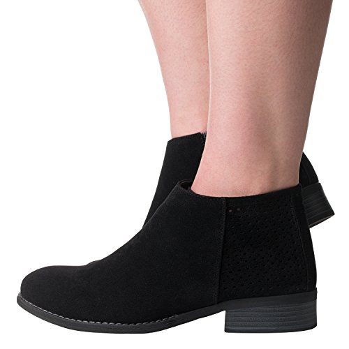 Riverberry Womens /'Jena/' Cut out Heel Short Booties