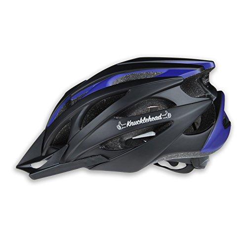 MOON Cycling Helmet, Ultralight Bicycle Helmet, in-Mold Lightweight Bike Helmet for Road Mountain Biking Racing, Safety Protect Sport Helmet - Black with Blue/Gray/Red/Orange