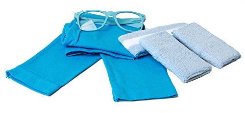 [80's Workout Girl Outfit Kit - (Bright Neon Colors) - Neon Blue] (80s Nerd Costume)