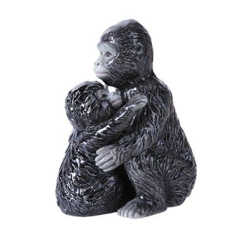 ShopForAllYou Figurines and Statues 4.75 inches Gorilla Family Magnetic Salt and Pepper Shaker Kitchen Set