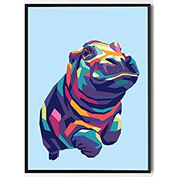 OMG Pop Prints Hippo Limited Poster Artwork - Professional Wall Art Merchandise (More (8x10)