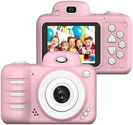 子供たちのおもちゃのカメラ4-10歳の女の子の男の子のための、4-10歳の少年少女の創造ギフトのための2.4インチ画面8MP HDビデオカメラ、ベストギフト (Color : Pink)