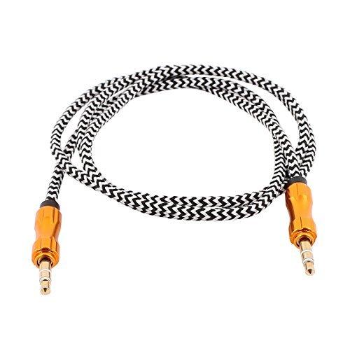 DealMux 3,5 mm macho para 3,5 mm macho cabo de áudio estéreo no carro Extensão Stripe Cabo ()