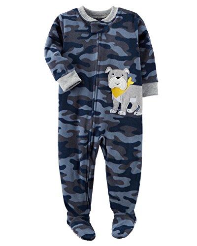 Carters Dog Blanket - Carter's Boys' 12M-8 Camo Dog Fleece Pajamas Blue 3T