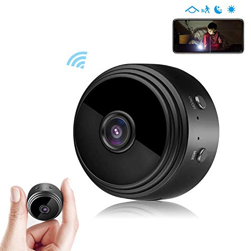 Spy Camera-Hidden Camera, Wireless HD 1080P WiFi Mini Camera with Night Vision,Motion Detection,Indoor Covert Nanny Security Camera,Remote Live View Support iOS/Android for Home and Offic