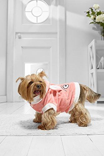 [Toy Dog Bunny Costume For Yorkie Pom Chihuahua Papillon Maltese Shih Tsu Lhasa Apso (Medium Toy Size, pink,] (Mini Dachshund Halloween Costumes)