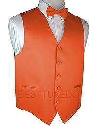 Italian Design, Men's Tuxedo Vest, Bow-Tie & Hankie Set in Mandarin