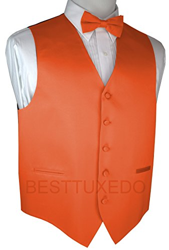 Brand Q Men's Tuxedo Vest and Bow-Tie Set-Mandarin-S