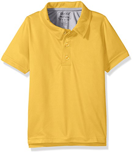 Cherokee Big Boys Uniform Short Sleeve Performance Polo, Gold, 8 (Polyester Kids School)