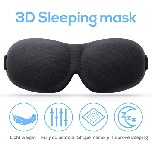 Sleeping Masks for Women and Men   Upgraded, Contoured & Comfortable 3D Eye Mask for Sleeping   Portable Night Blindfold for Travel, Meditation Memory Foam Eye Shades Cover Comple