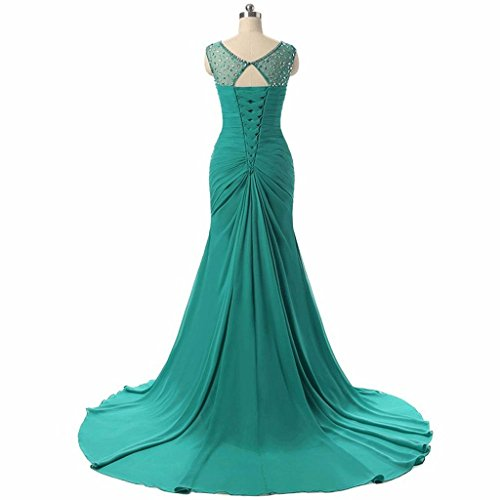 s Sweetheart Women ASBridal Dresses Mermaid Fuchsia Prom Long Chiffon Crystal Evening Gowns 1wCxq5