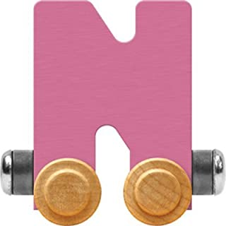 product image for Maple Landmark NameTrain Pastel Letter Car N - Made in USA (Pink)