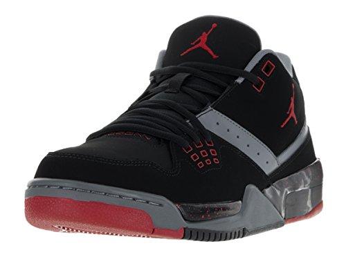 Vuelo zapatos de baloncesto de cuero 23 Negro / gris / rojo