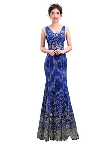 Drasawee Drasawee Damen Damen Blau Schlauch Kleid Schlauch OrwOWqES