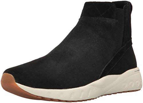 Reebok Women's Ers Deluxe Chelsea Running Shoe, Black/Classic Wht/Gold/Carotene/Ash Grey-Gum, 9.5 M US - Reebok Classic Black Gold
