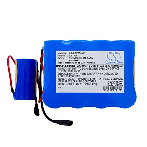 XPS Replacement Battery Compatible with Euro PROShark SV736 Shark SV736R Shark SV75 Shark SV75SP Shark SV75Z SV736 SV736R SV75 SV75SP SV75Z AGPB015-A001 LIS1579ERPC