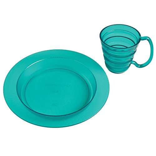 Maddak Translucent Blue Polycarbonate Ergo Plate and Mug Set, 9-3/4-Inch (745330010)