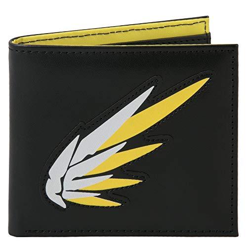JINX Overwatch Mercy 'Guardian Angel' Graphic Bi-Fold Wallet, Black, Standard Size
