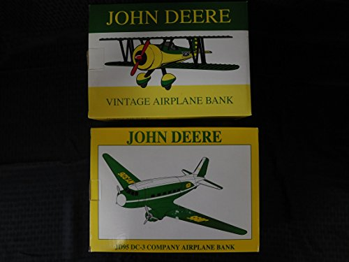 JOHN DEERE- VINTAGE LIMITED EDITION AIRPLANE BANK Set of 2 (1992-1993) by DEERE AND COMPANY