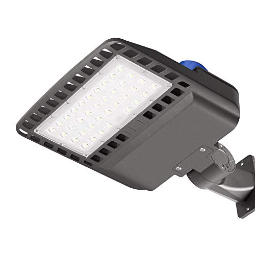 (100W LED Parking Lot Light with Photocell, 13000 LM LED Flood Barn Yard Wall Lights, 5000K 300W Equivalent MH/HPS Replacement, Dusk to Dawn LED Outdoor Lighting for Backyards Area Porch Lights, IP65)