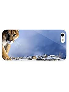 3d Full Wrap Case for iPhone 5/5s Animal Cougar60 by ruishername