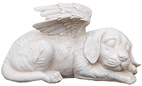 Napco 11144 Sleeping Angel Dog with Wings Garden Statue, 9.75 x 5