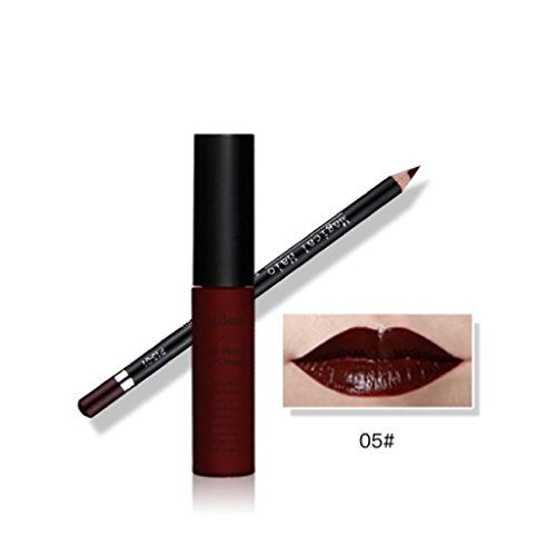 LUNIWEI Waterproof Pencil Long Lasting Lipliner With Lipstick perfect combination