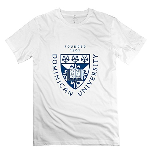 Leberts Love Dominican University T-Shirt For Men White Size XS -