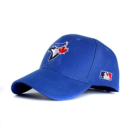 HATSPORTCAP New York Baseball Cap Sport Hat Fan Clean Up Adjustable Hats for Toronto Chicago (Blue) (Caps Jay Blue)