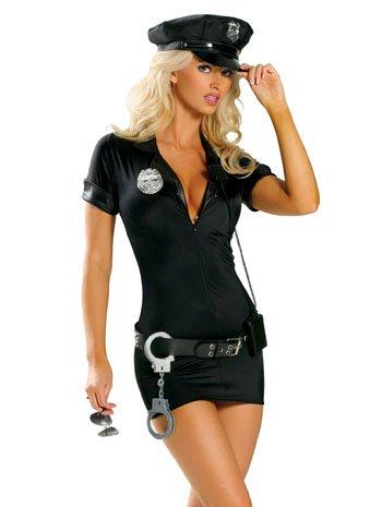 Stop Traffic Cop Costume - Small/Medium - Dress Size 2-6 (Stop Traffic Cop Sexy Costume)
